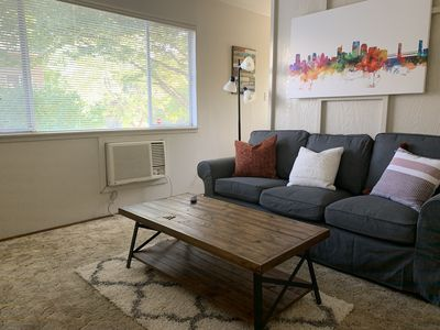 Photo for Disinfected Upstairs 1 Bdrm Apt in Midtown - Purified Air Relief for Allergies