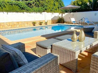 Photo for Charming villa with private swimming pool located 100 m from the sea