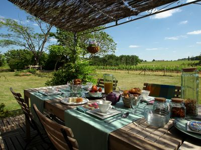 Photo for B&B amid the Bordeaux vineyards - room in a barn conversion full of character