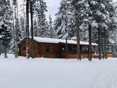 Photo for Lazy Dog Lodge is the quintessential log home in a ski and mountain bike resort