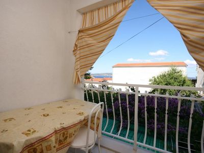 Photo for Studio flat with terrace and sea view Baška Voda, Makarska (AS-6827-b)