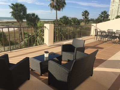 Photo for Beach Front Newly Renovated 2Bd Condo with Oversized Terrace...Postcard Views