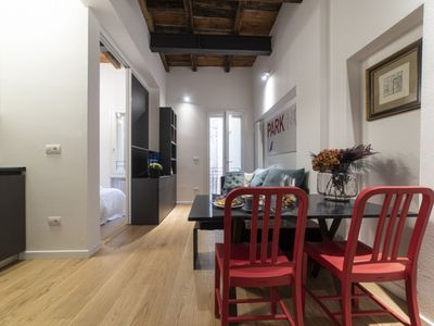 Photo for Delightful newly renovated studio apartment in the heart of the historic center of Bologna.