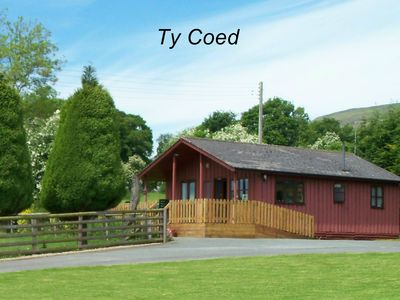 Photo for Attractive Timber Chalet In The Upper Tanat Valley. Sleeps 4.