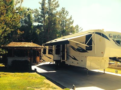 38.5' Fifth wheel and palapa.