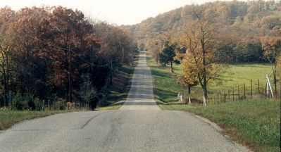 Scenic Road to Spec's Place on the Lake