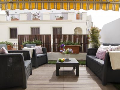 Photo for San Francisco Penthouse with small Terrace in the center of Sitges - Pet Friendly by GLOBALSITGES