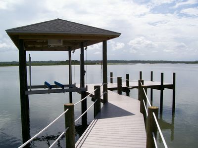 Dock and boat lift.
