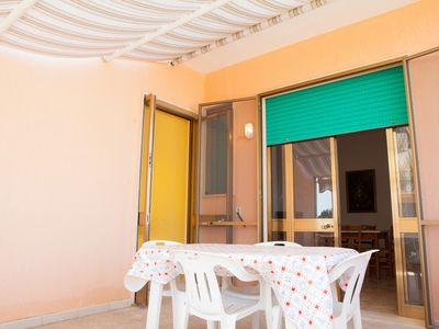 Photo for Holiday apartment in Torre Lapillo, 2 bedrooms, equipped terrace
