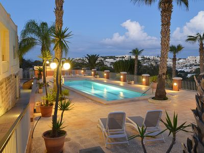 Photo for Tranquil villa apartment with 2 bedrooms, swimming pool, BBQ, country views