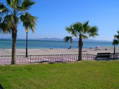 60 footsteps Calm tranquil waters of the Mar Menor inland sea and stunning blue,