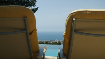 Photo for Apartment with fantastic views of the Mediterranean and Marbella with pool.