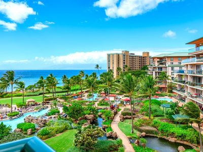 Photo for K B M Hawaii: Ocean Views, Whale Watching 2 Bedroom, FREE car! Jul, Sep, Oct Specials From only $279!