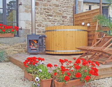 Photo for Holiday rental Dinan Brittany, Private HOT TUB, Red House Gites