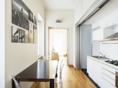 Photo for Quiet and yet right in the heart of the city of Como, an elegant cosy apartment.