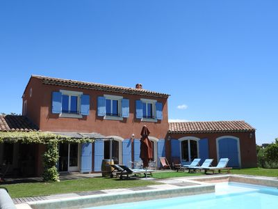 Photo for Villa sea view on the heights with heated pool