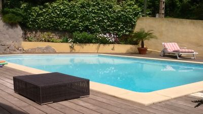 Photo for House, quiet, sea view, pool and Jacuzzi, 2 double bedrooms 4 persons