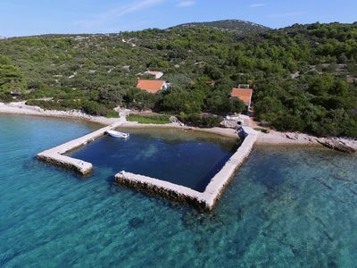 Photo for Gorgeous cottage on the island of Pasman, right by the sea