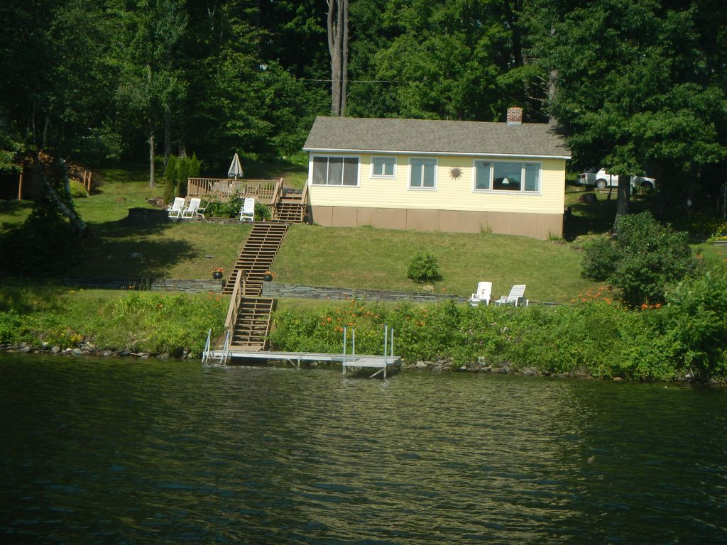 Waterfront Home On Lake Bomoseen With Fanta Vrbo