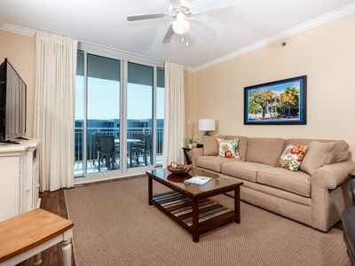 Photo for Welcoming condo at Waterscape! Free Wi-Fi. Steps to beach! Free beach chairs! Lazy river on-site!