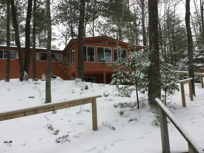 Photo for Wisconsin Northwoods Vacation Home  on a Private Lake