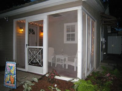 Feel the Gulf breeze on the screened porch