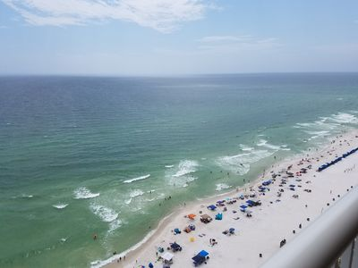 Photo for Majestic Beach Resort Efficiency Unit 20th Floor Directly on the Gulf of Mexico