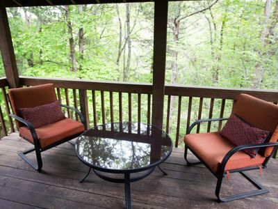 Photo for Shady Oak Cabin at the Enchanted Forest Resort offers Quiet Seclusion just m