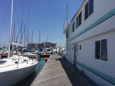 Photo for Houseboat (Floating House) in Beautiful San Diego Bay on Harbor Island!