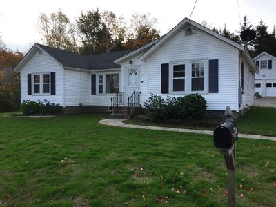 Photo for 3 bedroom/2 full bath cottage, minutes to harbor,1 mile from town, at bus stop