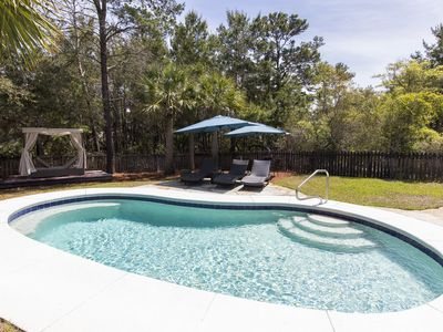 Photo for 3 bed/2 bath / Seacrest / private pool - Sleeps 11 - 1/2 mile to the Beach!!!