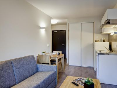 Photo for Surface area : about 33 m². 1st floor. Orientation : West. Living room with bed-settee