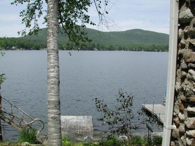Photo for Private lake front cottage with spectaular views.