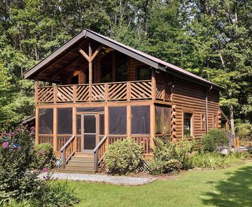 Photo for Luxurious Mountain Cabin in Monteagle Near Sewanee with Private Pond