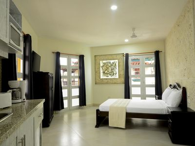 Photo for Elegant studio in Old City #303 - Stunning Rooftop & balcony - WiFi/AC/Hot H20