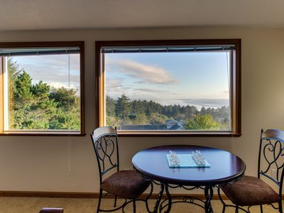 Photo for Dog-friendly oceanview home with a private hot tub, deck, and Ping-Pong!
