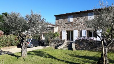 Photo for Very beautiful stone house 3 bedrooms, river views, garden,