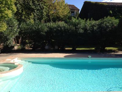 Photo for OLD VILLAGE HOUSE WITH SWIMMING POOL AND LARGE PRIVATE GARDEN TREES