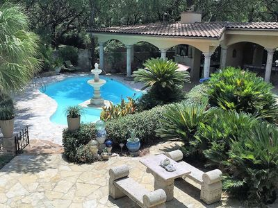 Photo for Spoil Yourself! Pool, Hot-tub, Outdoor Kitchen, Stunning Backyard, Atrium. Your Own Private Paradise