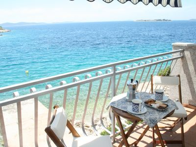Photo for Luxury house in Tribunj, directly on the sea with one-liger place