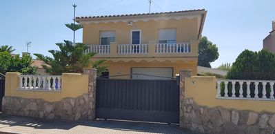 Photo for chalet with barbecue, pool and sea views