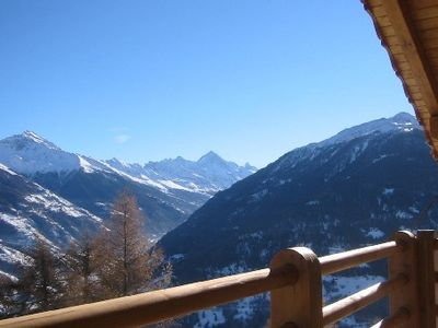 Photo for Chalet au grand comfort situated in the skiing area 4 Vallées in the Wallis