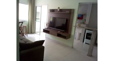 Photo for Thel Ubatuba - Apt 15B (1 bed w / air, car space, 130m from the beach, swimming pool)