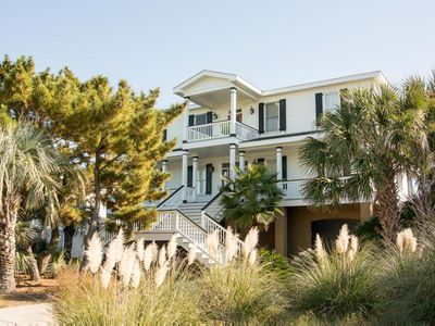 Photo for Elegant Oceanfront Home with Gourmet Kitchen & Elevator - Perfect for Large Families & Group