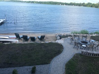 Cape Cod Style lake home with beach front - only 1 hour from Minneapolis MN.