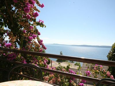 Photo for One bedroom apartment with balcony and sea view Rastići, Čiovo (A-11723-b)