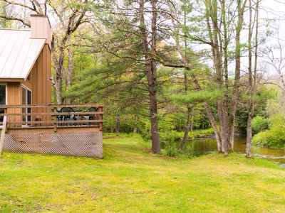 Photo for Cannon River Ranch Cabin 1: 3 BR Cozy Cabin on Pere Marquette! (Sleeps 8)
