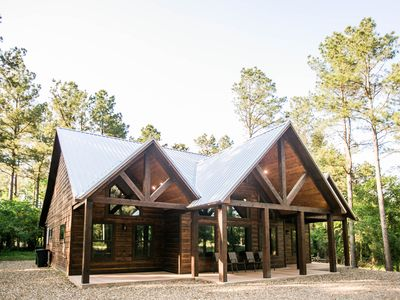 Photo for New! Augusta Pines Luxury Cabin; 2 BR; 3Bth;Hot Tub; Fire Ring; Shuffleboard