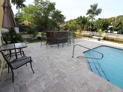 Photo for ⭐️Waterfront pool home near beach, cruise, airport, downtown