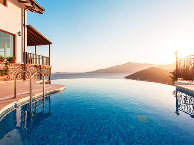 Photo for Secluded & Luxurious Mediterranean Villa w/ Infinity Pool & Kids' Pool